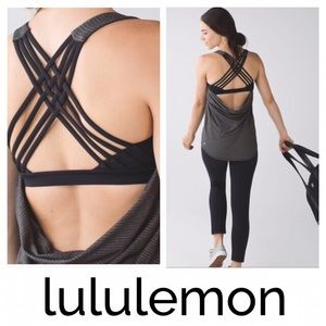 Lululemon Wild Tank Layered Bra Stripe Strappy
